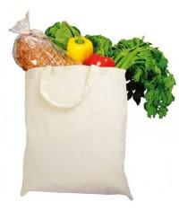 Bawełniana torba z krótkimi uchwytami
