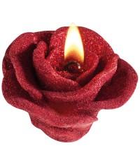 Świeca w kształcie róży