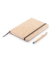 Korkowy notatnik A5 z długopisem