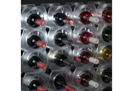Plastikowy stojak na 3 butelki wina