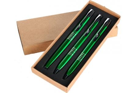 Zestaw piśmienny 3-częściowy zielony
