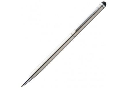 Długopis ze stali nierdzewnej z rysikiem do ekranów dotykowych