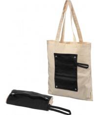 Bawełniana, zwijana torba zapinana na guzik