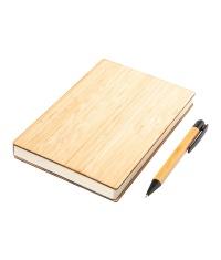 Zestaw bambusowy z notesem Lorca