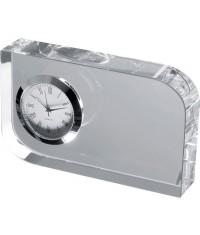 Szklany blok z zegarkiem